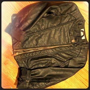 H&M faux leather jacket children's